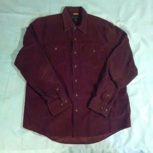 Timberland men's corduroy button up size LG